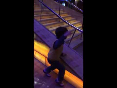 Kaka dancing moves at Celebrity Millennium in Alaska