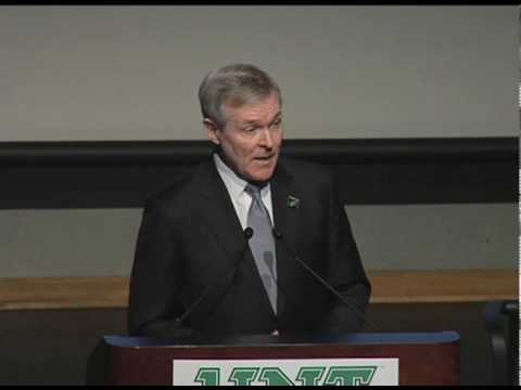Ray Mabus, Secretary of the Navy, at UNT