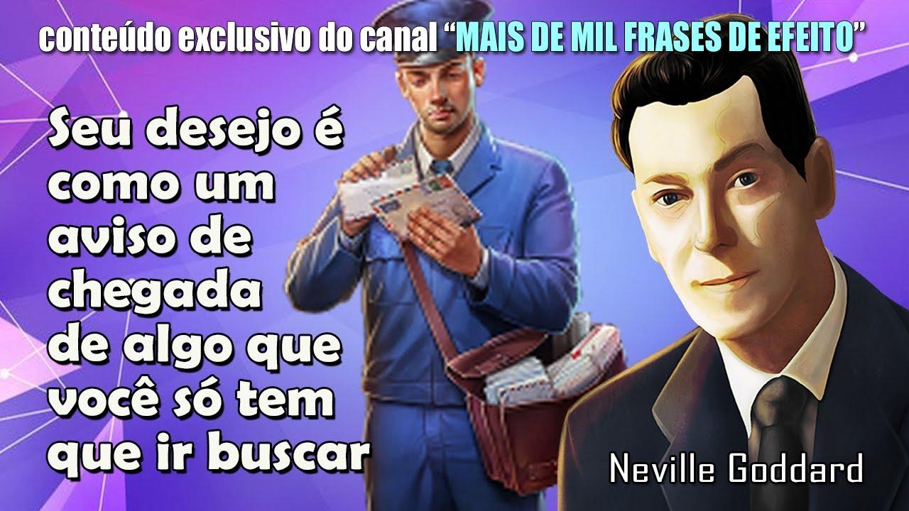 Estou aqui para lhe avisar que há uma Encomenda para você - Neville Goddard