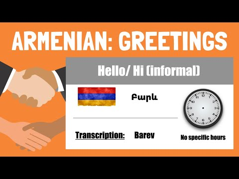 Learn Armenian: Greetings and Goodbyes in Armenian