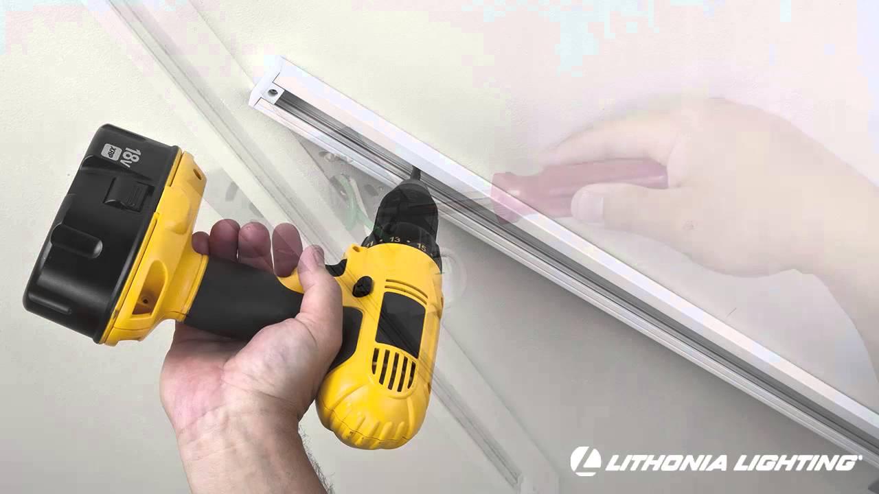 medium resolution of track lighting installation from lithonia lighting