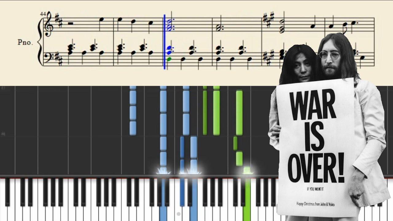 John Lennon - Happy Xmas (War Is Over) - Piano Tutorial + SHEETS ...