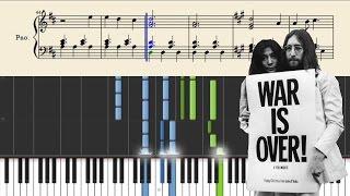 John Lennon - Happy Xmas (War Is Over) - Piano Tutorial + SHEETS