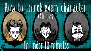 How Unlock Every Character Dont Starve Under Minutes Xp No Hacks Or Codes
