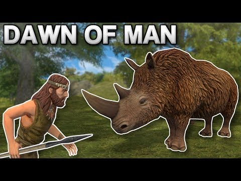 HUNTING DANGEROUS ANIMALS! - Dawn Of Man Gameplay - Prehistoric City Building Game