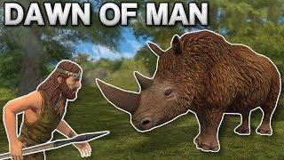 HUNTING DANGEROUS ANIMALS! - Dawn of Man Gameplay - Prehistoric City Building Game