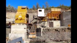 Sabit kırma eleme tesisi 250 T/s Kalker