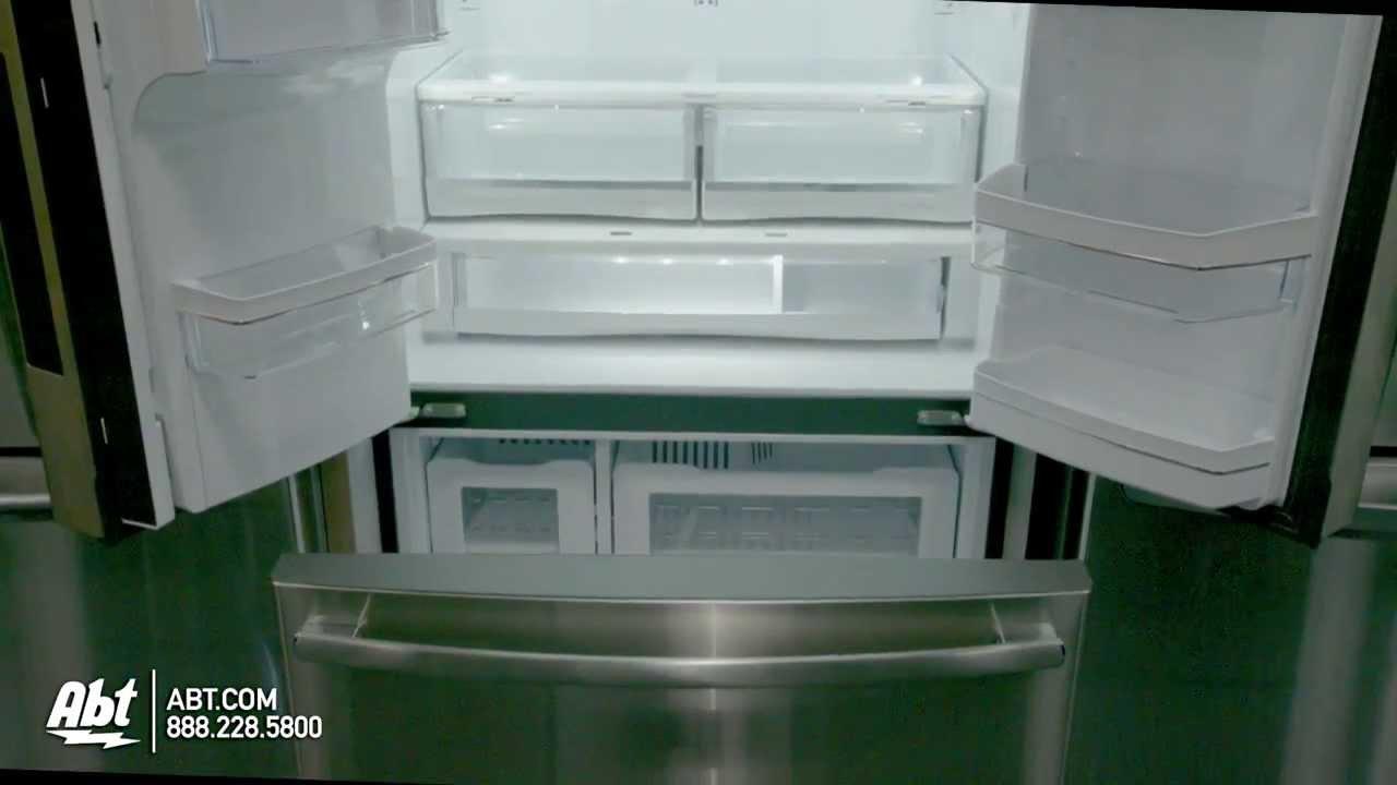 Ge profile stainless steel counter depth french door youtube rubansaba