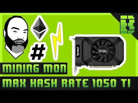 GTX 1050 Ti Hashrate Ethereum Mining Overclock Settings | Pailt XStorm