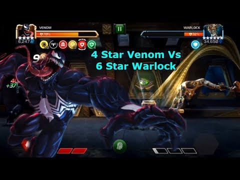 4 Star 4/40 Venom Vs Uncollected Warlock! | Marvel Contest Of Champions