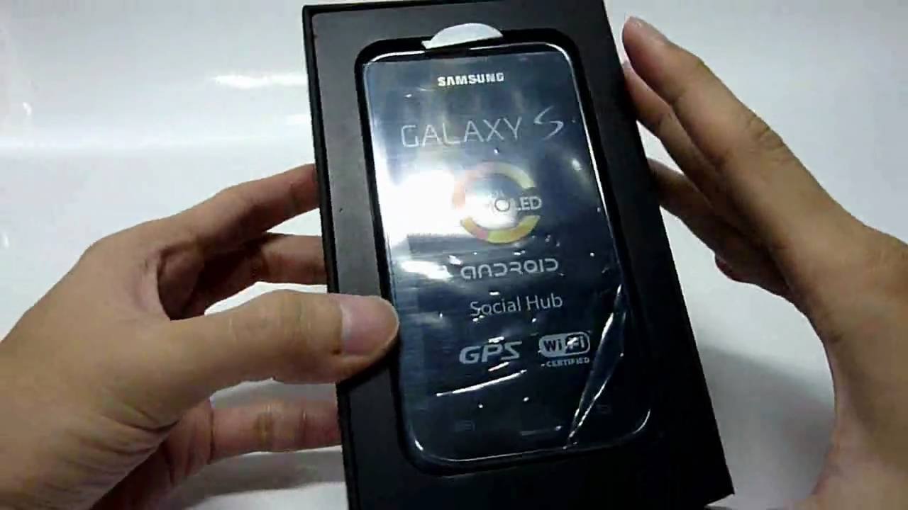 unboxing samsung galaxy s i9000 16gb youtube. Black Bedroom Furniture Sets. Home Design Ideas