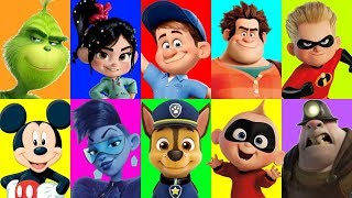 Wreck it Ralph Movie Slime Game with Incredibles, Paw Patrol and Mickey Mouse Clubhouse Toys