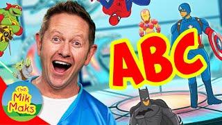 Superhero ABC Song   Learn English Alphabet for Kids   Nursery Rhymes   The Mik Maks