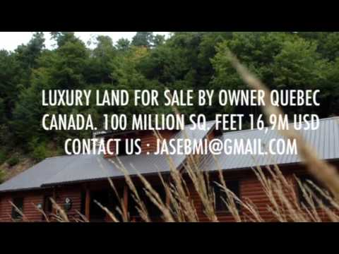 LUXURY LAND FOR SALE QUEBEC CANADA