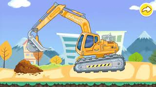 How Excavator Works, Illustration Excavator, games Baby Kids