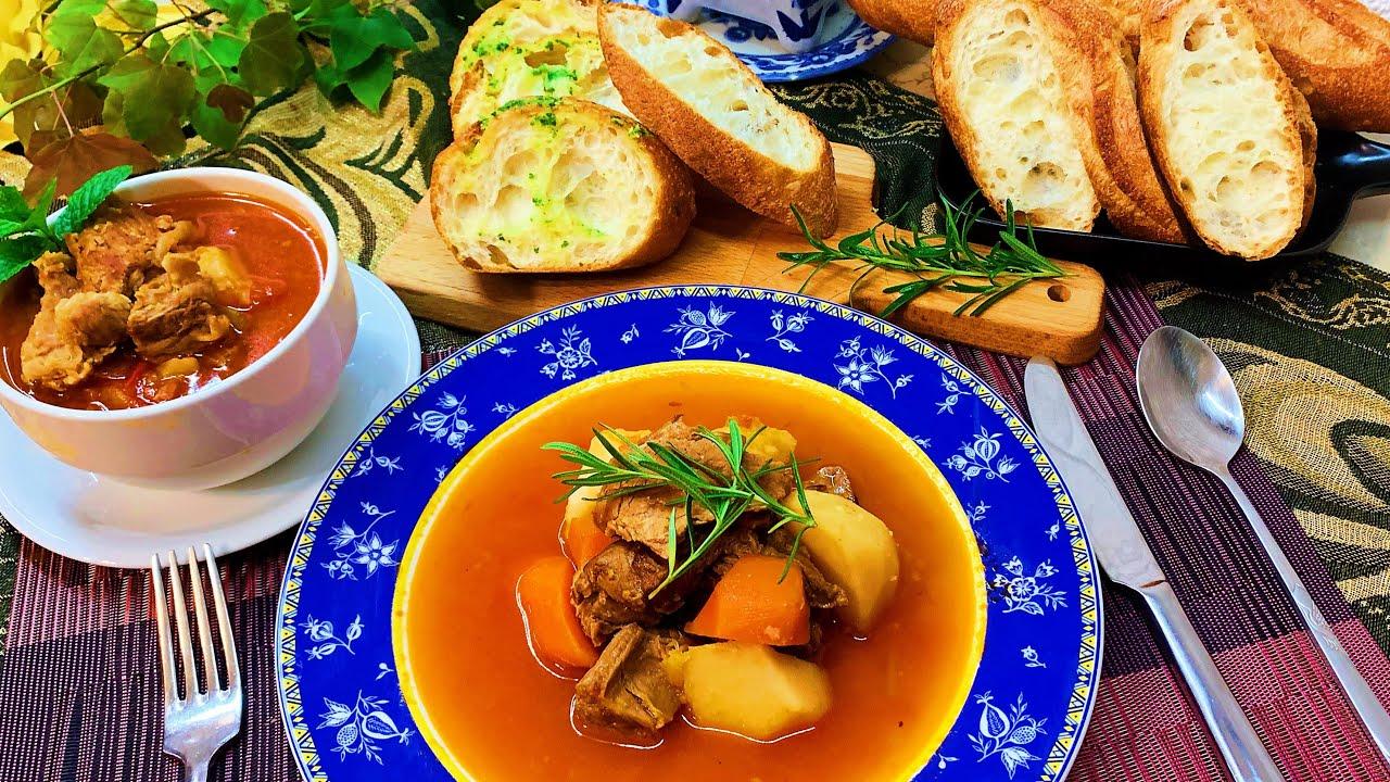 異國風味【牛腩-羅宋湯】牛肋條|電鍋版—香甜濃郁/簡單煮 非常好吃營養 - YouTube