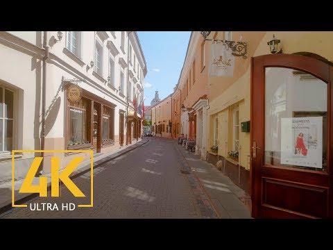 Vilnius, Lithuania - Walking Tour with City Sounds (4K 60fps) - Part #2