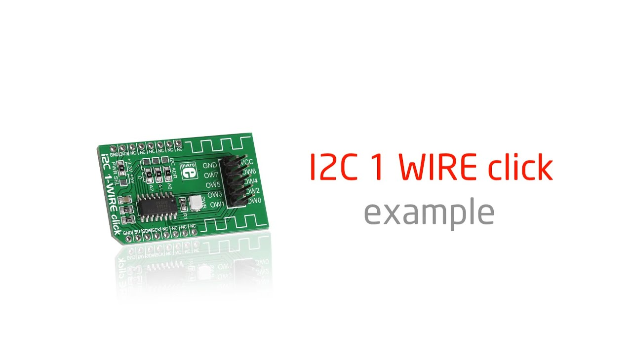 I2C 1-Wire click — board with DS2482 8-channel I2C to 1-Wire