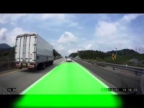 Driving lane detection using Convolutional Neural Network - 1