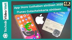 App Store Guthaben einlösen 2020 – iTunes Gutscheinkarte einlösen