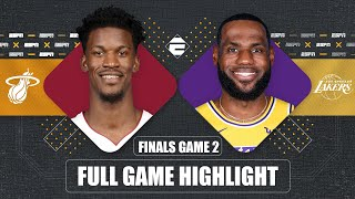 Miami Heat vs. Los Angeles Lakers [GAME 2 HIGHLIGHTS] | 2020 NBA Finals