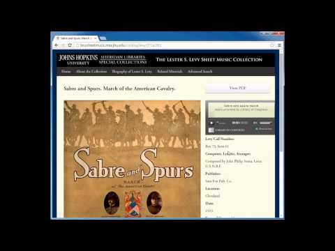 Searching For Audio Artifacts by Subject or Composer in the Levy Collection