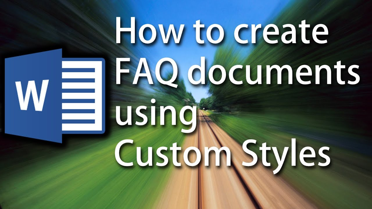 Word Tutorial How To Automatically Format Faq Documents Using