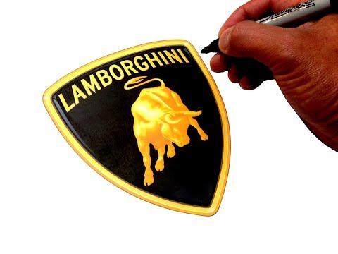 Artist Draws Famous Car Logos (Simple Easy Art)