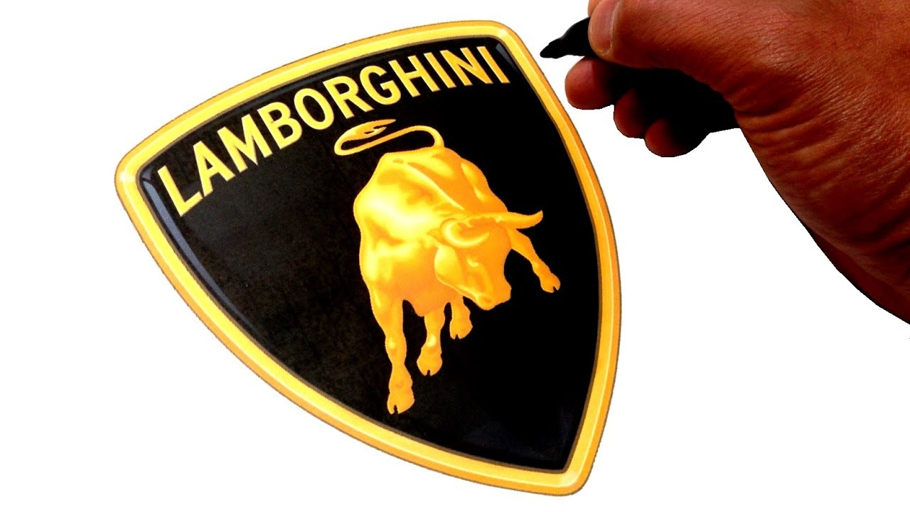 artist draws famous car logos simple easy art youtube rh youtube com lamborghini logo png lamborghini logo meaning