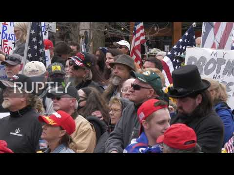 USA: Protesters demand lifting coronavirus restrictions at Wisconsin rally