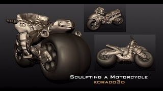 [3D Sculpting] Sculpting a Motorcycle in Pixologic Sculptris