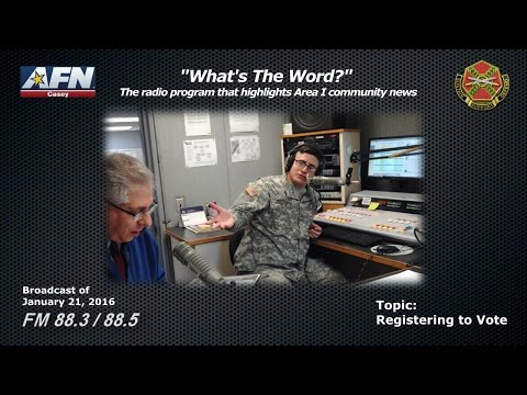 """WHAT'S THE WORD?"" - The radio program that highlights news of the Area I community in Korea."