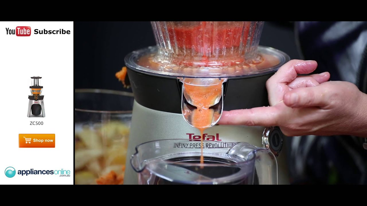 Tefal Slow Juicer Zc500 : Make a healthy fruit and vegetable juice on the Tefal s ZC500 Infiny Juicer - Appliances Online ...