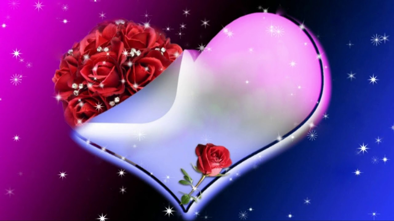 Heart Animation Background ¦ Abstract Heart Background HD ...