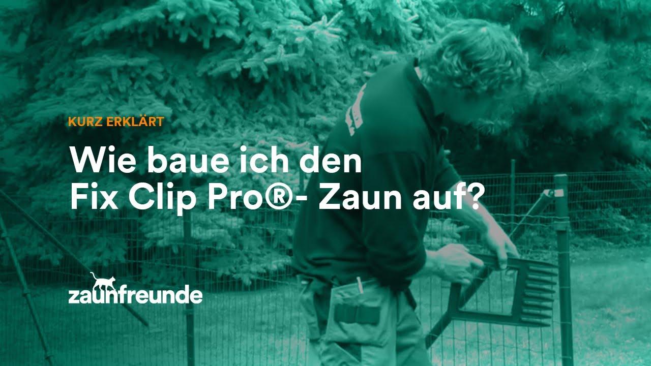 Drahtzaun Fix-Clip Pro® Montageanleitung - YouTube