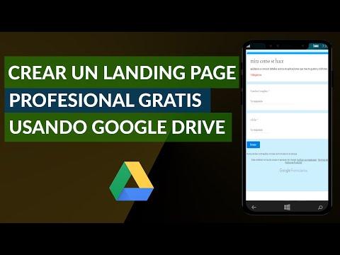 Cómo Crear una Landing Page Profesional Gratis Usando Google Drive