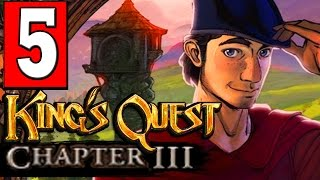 Kings Quest Chapter 3 Once Upon a Climb Part 5 GET LOG ACROSS / GOLDEN ACORN SONG PUZZLE
