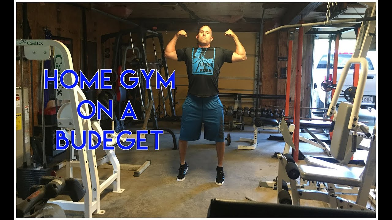 Home gym on a budget youtube