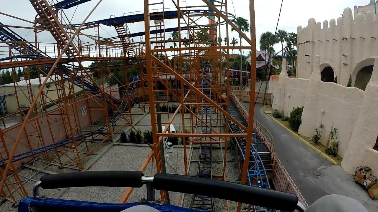 Front Row Sand Serpent Mini Roller Coaster Busch Gardens