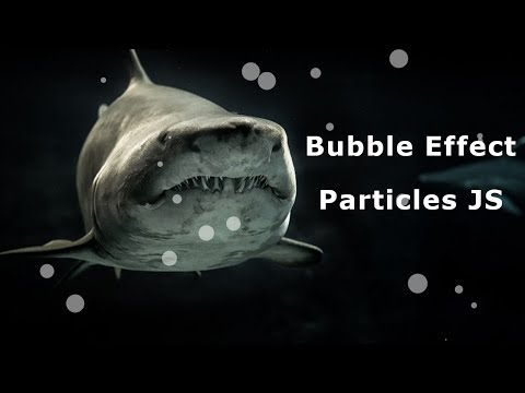 Bubble Effect by Particle JS | Particle js Effect | JavaScript Animated Background