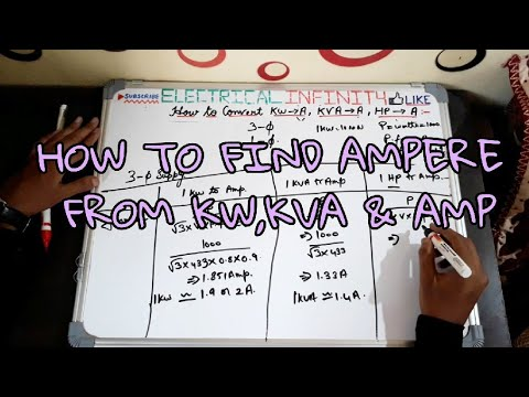 How to Convert KW to AMP , KVA to AMP , HP to AMP for 3 phase and single  phase | Ampere Calculation