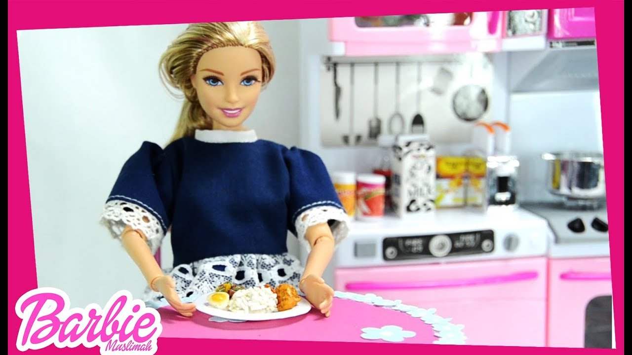 Barbie Muslimah Memasak Sarapan Barbie Muslimah Channel Youtube