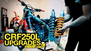 CRF250L Upgrades - FMF Q4 Full Exhaust, Öhlins Rear Shock, Electronic Jet Kit...