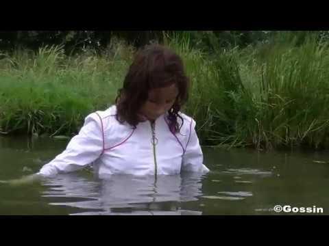 Swimming in muddy pond