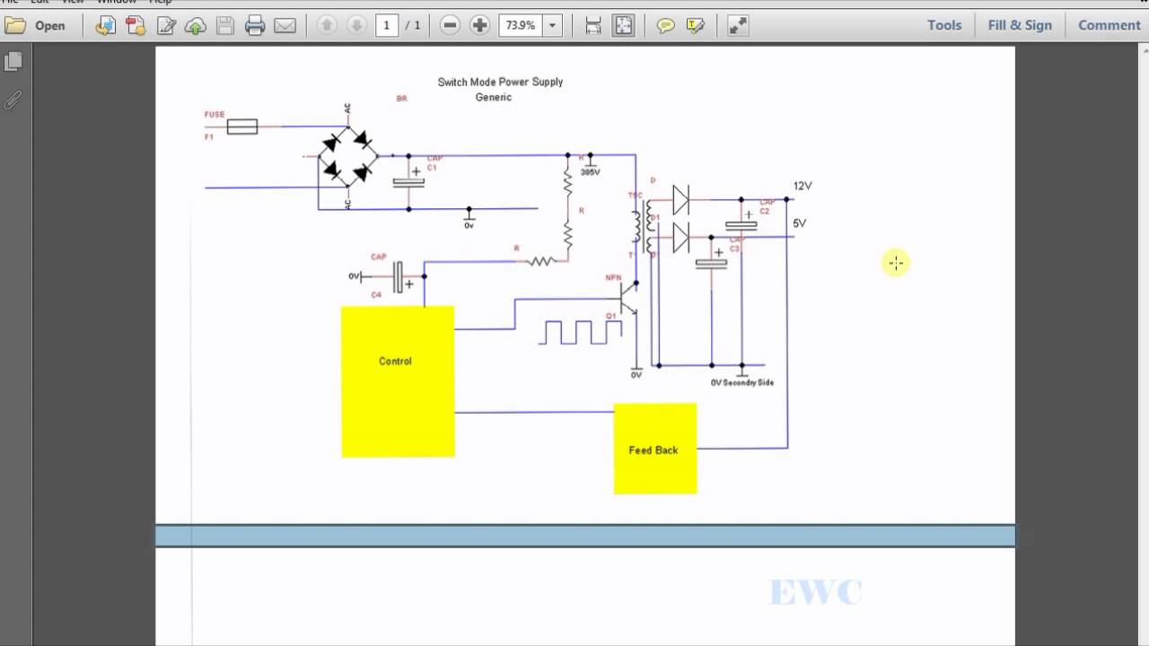 Simple Power Supply Schematic - YouTube