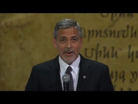 George Clooney speaks on Armenian genocide and refugee crisis