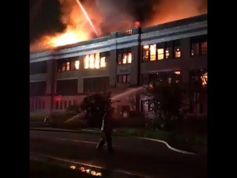 2-alarm 'suspicious' fire sweeps through old historic Ensley High School