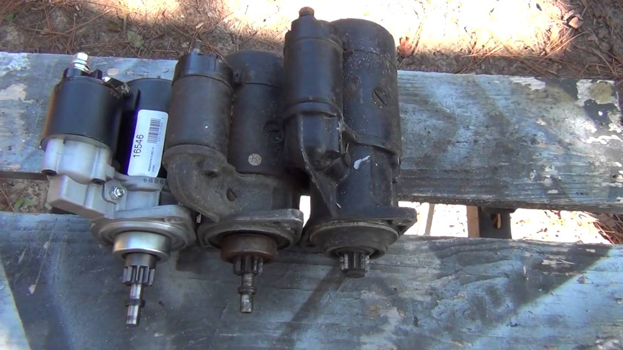 12V VW Starter Differences (Air Cooled)  YouTube