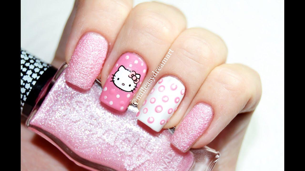 Hello Kitty Nails Dotting Tools Nail Art Маникюр в горошек дотсом You
