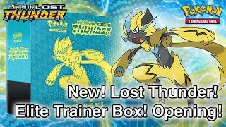 POKEMON! NEW! AWESOME!!! Lost Thunder Elite Trainer Box Opening + GIVEAWAY!